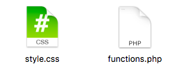style.cssとfunctions.phpの2つのファイルを作成する