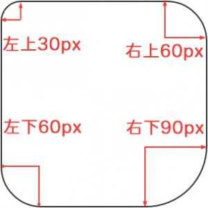 border-radius :30px 60px 90px