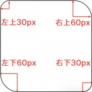 border-radius :30px 60px;