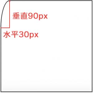 border-top-left-radius :30px / 90px;