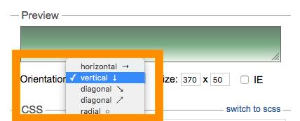 Ultimate CSS Gradient Generator グラデーションの向きを設定する