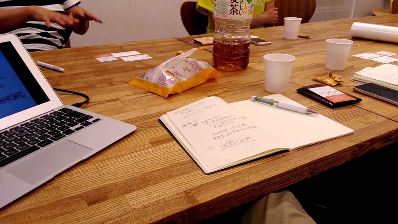 雑談会 テーブル