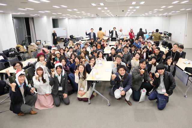 交流会 集合写真 大阪 あべのハルカス クリエイター200人祭り