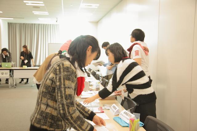 会場準備中 大阪 あべのハルカス クリエイター200人祭り