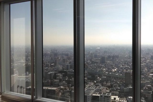晴天 窓から見た風景 大阪 あべのハルカス クリエイター200人祭り
