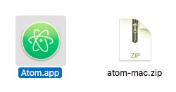開発エディタ Atom 起動