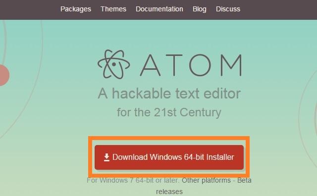 開発エディタ Atom トップページ Windows版